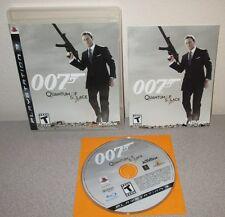 JAMES BOND 007 Quantum Of Solace PlayStation 3 w/Manual PS3 Action Daniel Craig