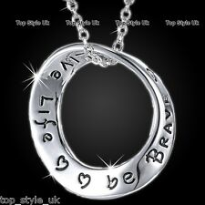 Love Circle Romantic Necklace Jewelry Gifts for Her Birthday Christmas Valentine