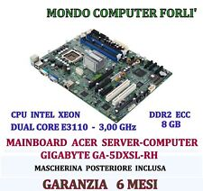 SCHEDA MADRE SOCKET 775 SERVER ACER GA-5DXSRH+INTEL XEON DUAL CORE E3110+8Gb RAM