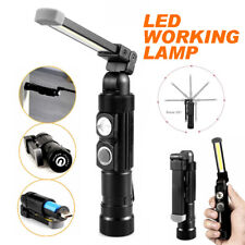 COB LED Rechargeable Flexible Inspection Hand Lamp Torch Magnetic Work Light