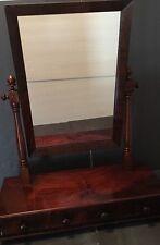 Tabletop Mirror Antique circa 1820's Mahogany 3 drawer  Center Locking
