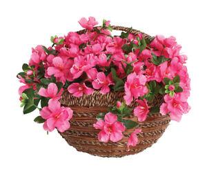"Artificial Basket Azalea Wall Basket 14"" High Quality, UV Protected. Fast & Free"