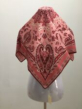 """ANN TAYLOR 100% SILK SQUARE MULTI COLOR PAISLEY FLORAL 27"""" X 27"""" SCARF WRAP NWT"""