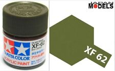 Acrylic Paint - Colore Acrilico 10ml XF-62 XF62 OLIVE DRAB 81762 Tamiya