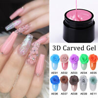5g NEE JOLIE 3D Carved Flower UV Gel Nail Polish Soak Off Nail Art Gel Varnish