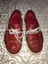 Coke Han Air Yatch Club Collection Red Leather Boat Shoes Size 11.5 GUC
