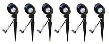 6 Malibu 8301-9604-01 20w Bi-Pin Cast Metal Spot Lights Floodlight Black New!!