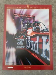 Kenny Youngblood Kenny Bernstein King Of Speed Budweiser Signed Poster 500 Ed.