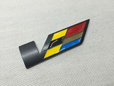 1x Black V Emblem Badge Metal Sticker Body Trunk Logo for Cadillac ATS CTS SRX