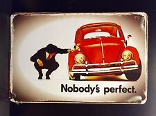 Nobody's Perfect VW Beetle  -Vintage&Retro Style Small Metal Sign 20x30cm