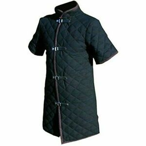 Medieval Gambeson Thick padded costumes Jacket dress coat Aketon Armor sca larp