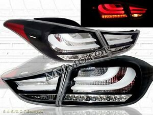11 12 13 ELANTRA TAIL LIGHTS BLACK W/ LED 4 PCS IN STOCK BRAND NEW
