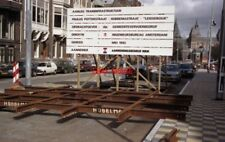 PHOTO  NETHERLANDS AMSTERDAM 1992 TRAM FLAT CROSSING READY TO BE LAID