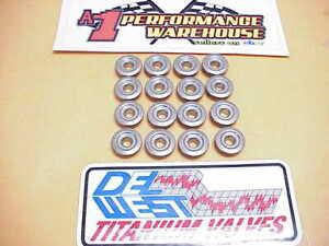 """16 DEL WEST Mini Titanium Retainers w/Molysil Coating 1.270""""-.985""""-.660"""" NASCAR"""