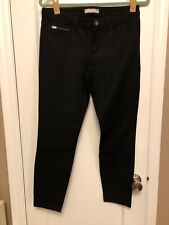 Banana Republic Sloan black skinny slim pants 4S short euc