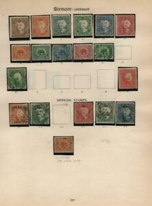 INDIAN STATES: Sirmoor State Examples - Ex-Old Time Collection - Page (41027)