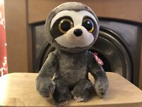 """VGC Ty Beanie Boos Dangler Sloth Medium 9"""" Excellent Condition Tagged"""