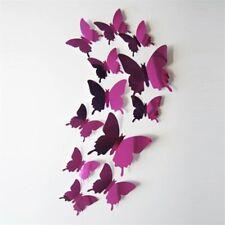 12x 3D Farfalle FAI-DA-TE Butterfly Adesivi Da Parete Arredo Casa Murale rosa