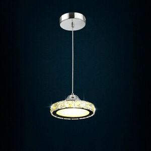 12W Modern Single Ring LED Crystal Chandelier Pendant Lamp Ceiling Indoor Light
