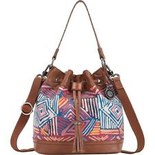 The SAK Handbag Womens Ukiah Modura Pink Leather Purse with Drawstring 151622