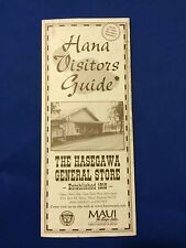 Hana Visitors Guide, Hasegawa General Store Maui, Hawaii In Excellent Condition