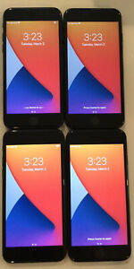 FOUR TESTED GSM UNLOCKED BLACK AT&T APPLE iPhone 7, 32GB A1778 PHONES R220P