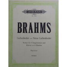 BRAHMS Johannes Liebeslieder Neue Liebeslieder Chant Piano 4 mains partition she