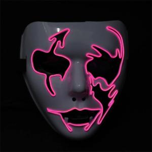 Light up Flash Mask LED Arrow Face Halloween Glow Mask LED Light Up Costume Purg