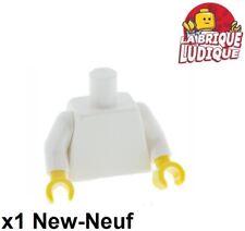 Lego 1x minifig torso torse bras blanc/white hand main jaune/yellow 973c01 NEUF