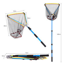 Folding Fishing Landing Net Boating Lightweight Telescoping Net Saltwater Tackle