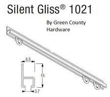 Campervan / Motorhome Silent Gliss Curtain Track, 1500mm Face fix complete kit