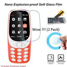 ForNOKIA 3310 (2 Pack) GENUINE HIGH QUALI Nano anti-Explosion Screen Protectors
