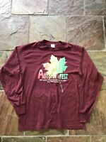 Vintage 1988 Autumnfest Shirt Size L Road Race Made In Usa