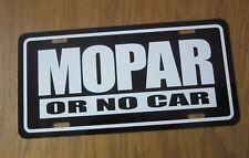 MOPAR or No Car license plate B TAG PLYMOUTH GTX ROAD RUNNER DODGE CHARGER DART