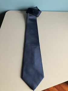 Burberry Cravatta London 100% pura seta tie silk original BUEBERRY blu blue