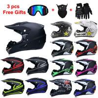 Off Road Motorcycle Helmet ATV Dirt Bike MTB Racing Motocross Capacete+Free Gift