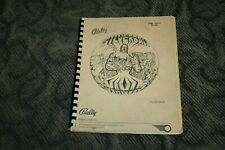 Bally Silverball Mania Pinball Manual (SEE PHOTOS)