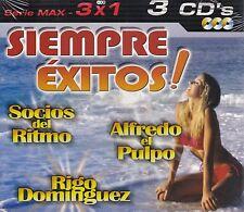 Los socios del Ritmo,Alfredo el Pulpo,Rigo Dominguez 3CD New Nuevo Sealed