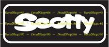 Scotty Fishing Reels & Rods - Outdoor Sports - Vinyl Die-Cut Peel N' Stick Decal