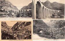 Lot 4 cartes postales anciennes GORGES DU LOUP viaduc 4