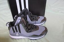 Brand New Adidas J Wall Mid Men's Basketball Shoes Size 8 Gray Onyx~Black~White