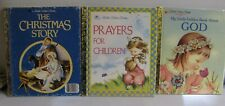 THE CHRISTMAS STORY; PRAYERS FOR CHILDREN; MY LITTLE GOLDEN BOOK ABOUT GOD
