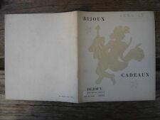 Brochure catalogue BIJOUX MONTRES METAL ARGENTÉ Ercuis Christofle Dejouy Dijon