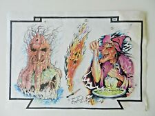 vintage shop used tattoo flash sheet TOM PTOLOMEY 1994 NOT MACHINE