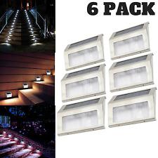 6PCS LED Solar Outdoor Lights Indoor Stair Light Pathway Deck Garden Patio Lamps