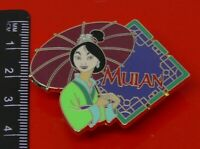 Disney Enamel Pin Badge Princess Mulan Character with Umbrella