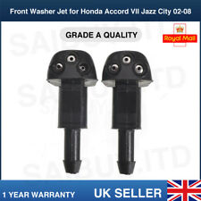2X Front Windscreen Washer JET Spray For Honda Accord VII 7 Jazz Fit City 02-08