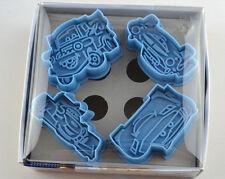 4pcs blue mcqueen car shape plastic mould cookie candy mould cutter set