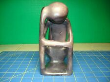 """""""The Thinker"""" Abstract Soapstone Sculpture"""