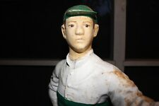 Large Antique Cast Iron Lawn Jockey, Jockey Boy